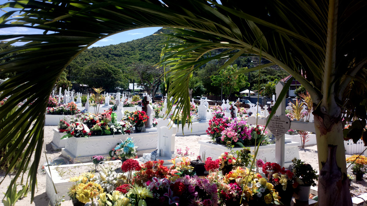 The town Lorient is known for its cemeteries filled with flowers.