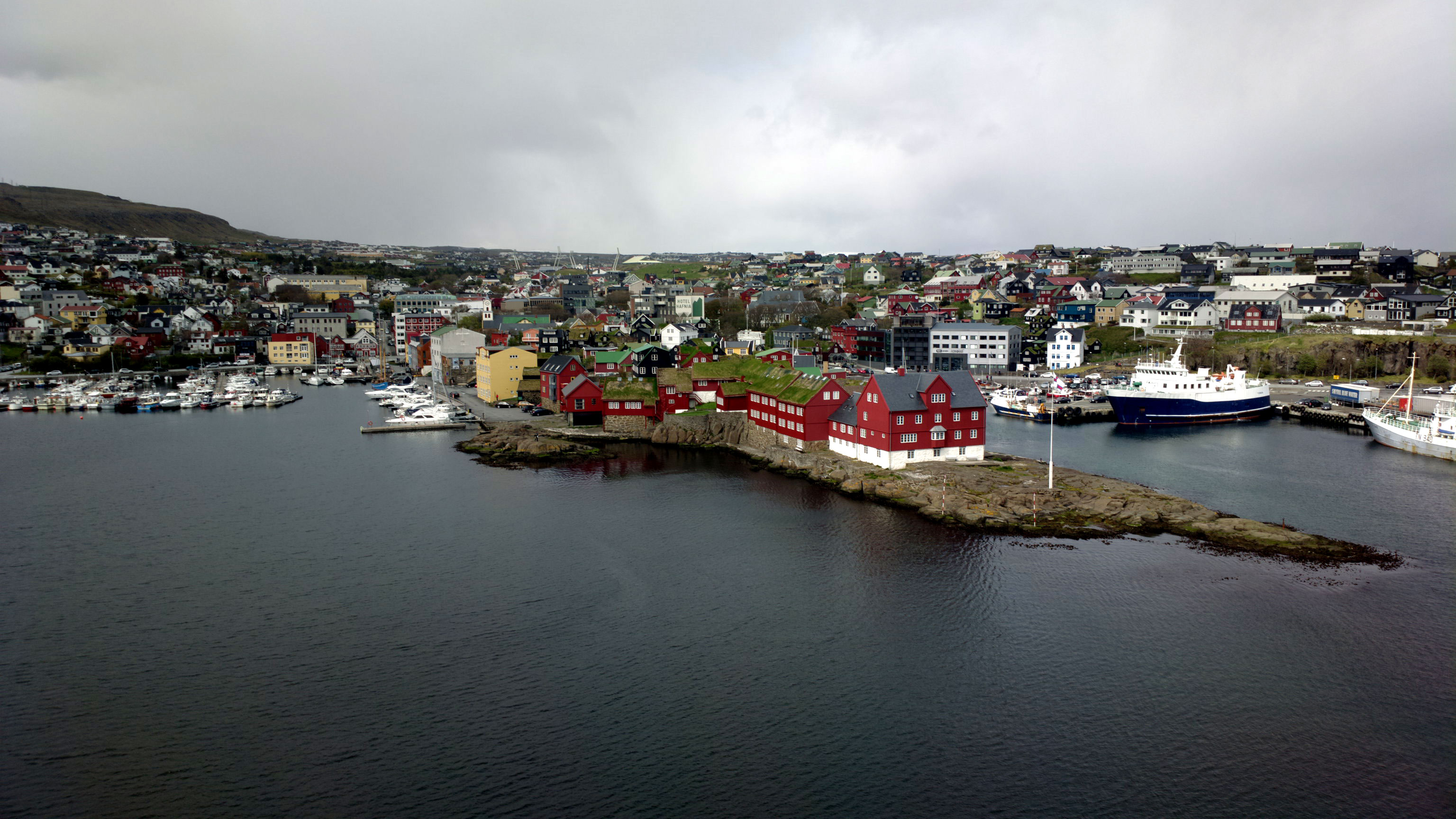 Tórshavn is the capital and largest town